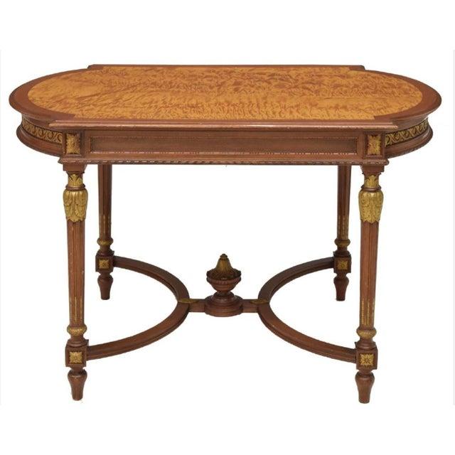Louis XVI Style Partial Gilt Salon Table - Image 2 of 3
