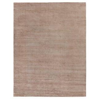 "Raven Hand loom Wool/Viscose Beige/White Rug-14'x18"" For Sale"