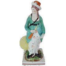 Antique Staffordshire Archery Figure For Sale