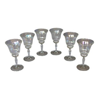 1950s Iridescent Cordial Glasses - Set of 6 For Sale