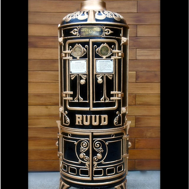 Antique Bar Cabinet with Water Heater Ruud For Sale - Image 4 of 7
