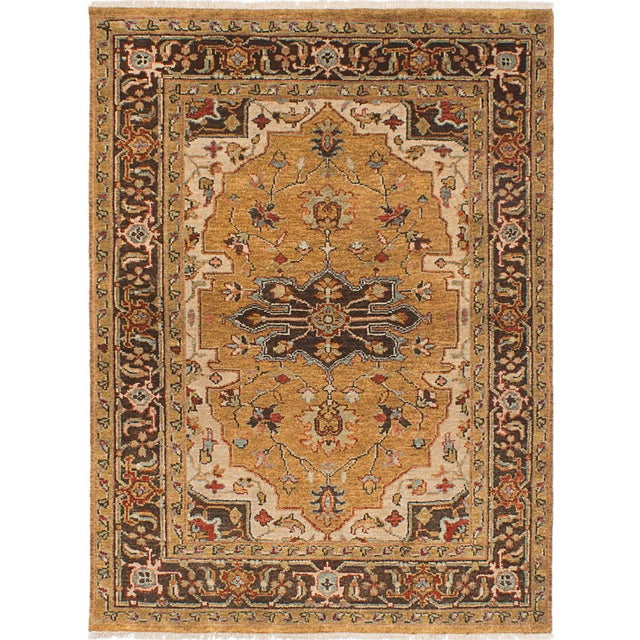 "Serapi Hand-Knotted Indian Rug - 5'0"" x 6'10"" - Image 3 of 3"
