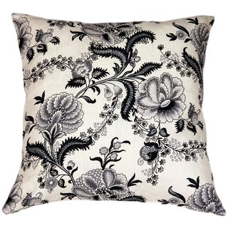 Tuscany Linen Floral Print 20x20 Pillow For Sale