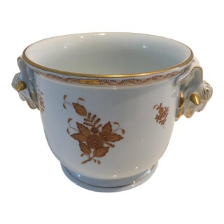 1980s Vintage Herend Hungary Goats Head Cache Pot For Sale