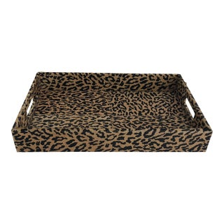 Leopard Print Cowhide Tray For Sale