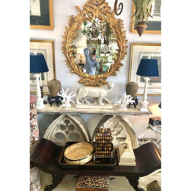 Ceramic Italian Glazed Terra Cotta Neapolitan Mastiff Dog Sculpture For Sale - Image 7 of 11