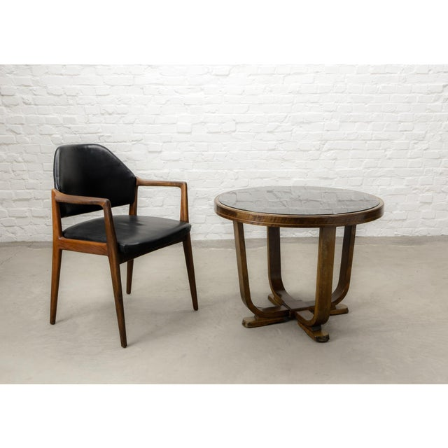 Mid-Century Scandinavian Design Teak Wood and Leather Side / Desk Chair, 1960s For Sale - Image 9 of 11