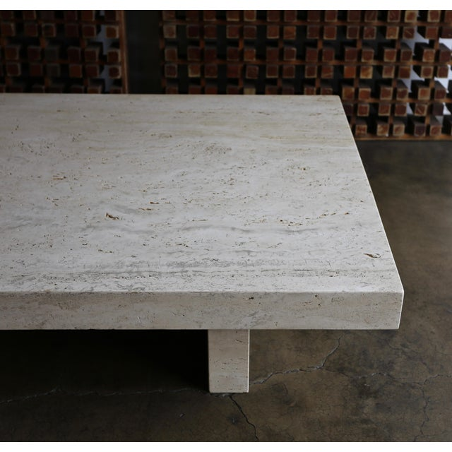 Modern Travertine Coffee Table, Circa 1980 For Sale - Image 3 of 13
