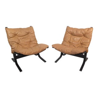 Pair of Scandinavian Modern Bentwood Lounge Chairs For Sale