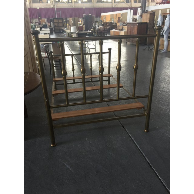 Antique Full Size Brass Bed For Sale - Image 4 of 12