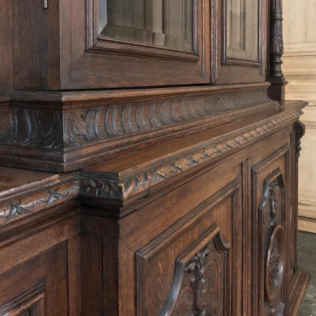 19th Century French Renaissance Grand Bookcase For Sale - Image 12 of 13