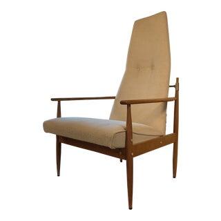 Peter Hvidt High Back Lounge Chair For Sale