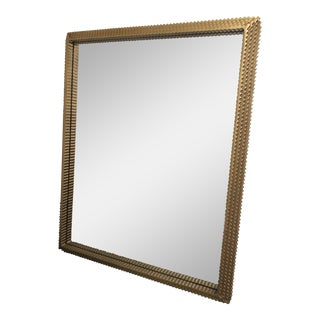 Made Goods Tramp Art Style Brass Todd Mirror For Sale