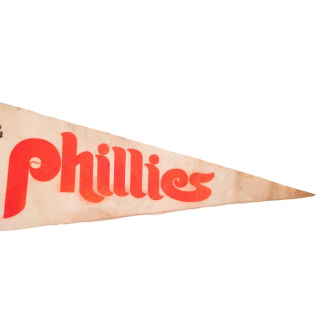 1970s Phillies Philadelphia Veterans Stadium Felt Flag - Image 2 of 3