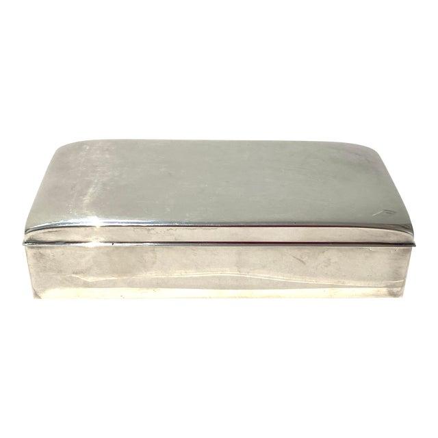 Art Deco 1930s Poole 1899 Epca Box Silver Plated Mahogany Interior For Sale