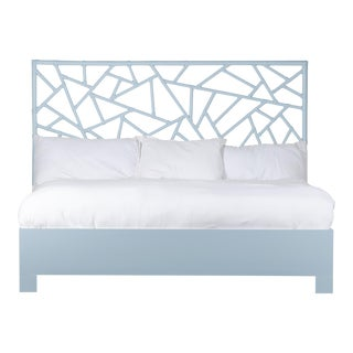 Tiffany Bed King - Blue For Sale