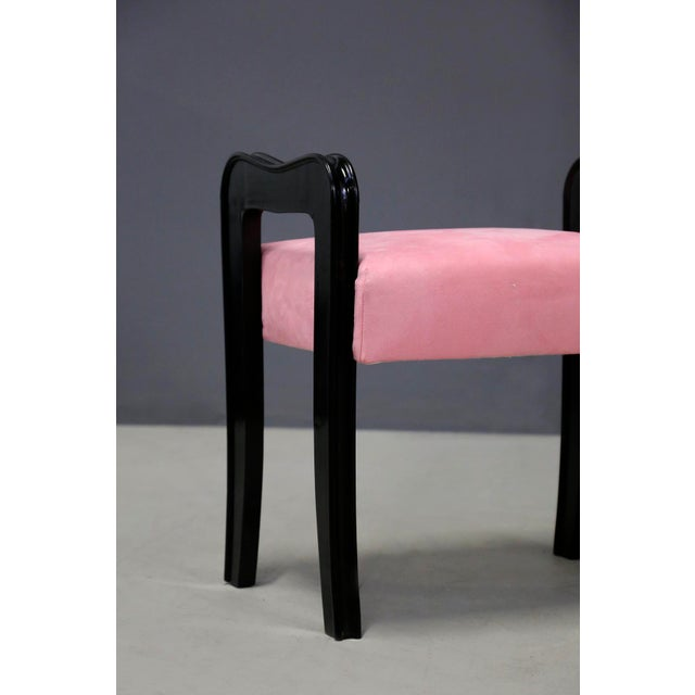Mid-Century Modern Pair of MidCentury Italian Stools Attributed to Paolo Buffa, 1950s For Sale - Image 3 of 10