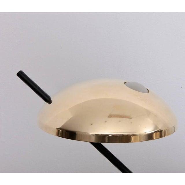 1970s 1 of 2 Huge Brass Sputnik Flush Mounts or Wall Lamps Attributed to Stilnovo For Sale - Image 5 of 8