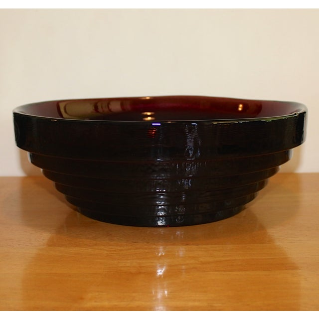 Vintage Blenko Amethyst Serving / Decorative Bowl For Sale In Phoenix - Image 6 of 6