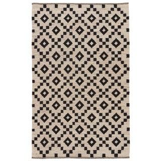 Jaipur Living Croix Handmade Geometric Black & White Area Rug - 8' X 10' For Sale