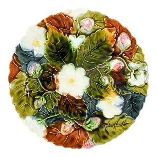 Strawberry Majolica Plate For Sale