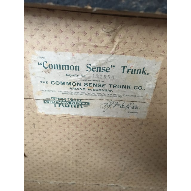 Antique Palica Common Sense Wood Trunk For Sale - Image 5 of 8