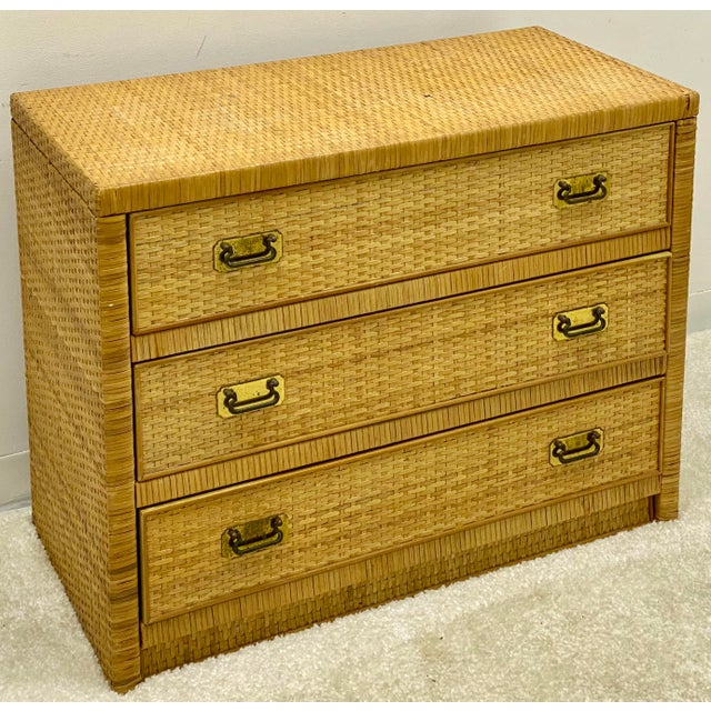 Bilecky Brothers Style Wicker Wrapped Chest For Sale In Atlanta - Image 6 of 6