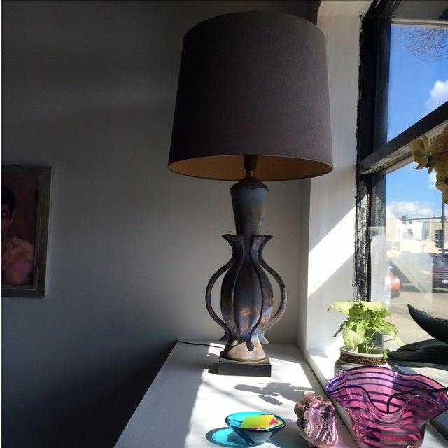 1960s TYE of California Brown Ceramic Table Lamp For Sale - Image 5 of 11
