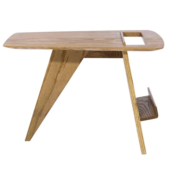 Jens Risom Magazine Table in Oak For Sale