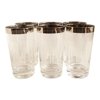 Dorothy Thorpe Style Etched Glasses - Set of 6 For Sale