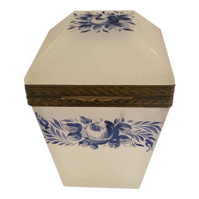 Vintage French Opaline Box For Sale