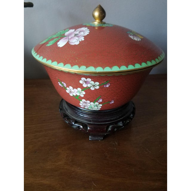Chinese Cloisonne Bowl on Stand - Image 7 of 11