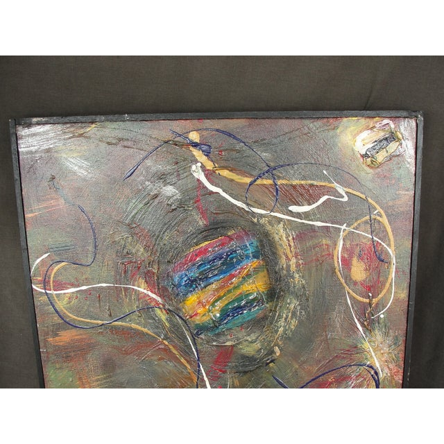 Abstract Mixed Media Painting by A. Marshall - Image 3 of 8