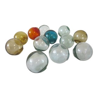 Miniature Glass Fishing Floats - Set of 12 For Sale