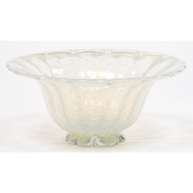 Iridescent Murano Glass Bowl For Sale - Image 4 of 9