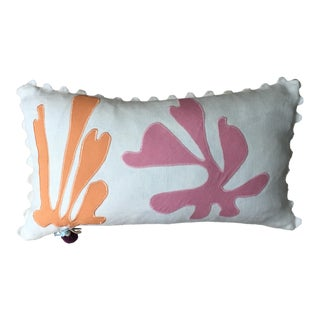 Seaweed Applique Throw Pillow