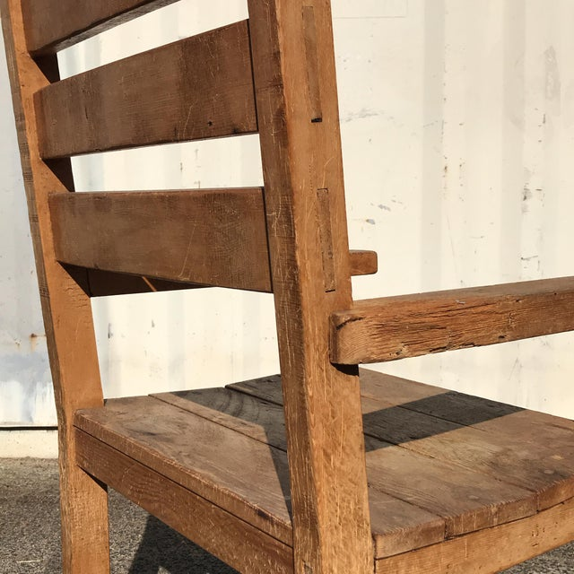 Wood 1990s Hand-Made Rustic Chair For Sale - Image 7 of 10