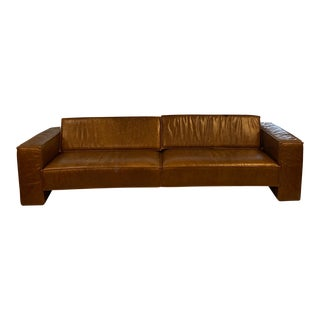 "Brown Leather Sofa ""Ken"" For Sale"