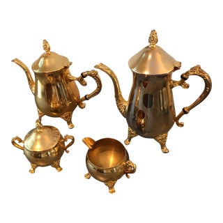 Vintage Gold Plated Coffee/Teaset - Set of 4