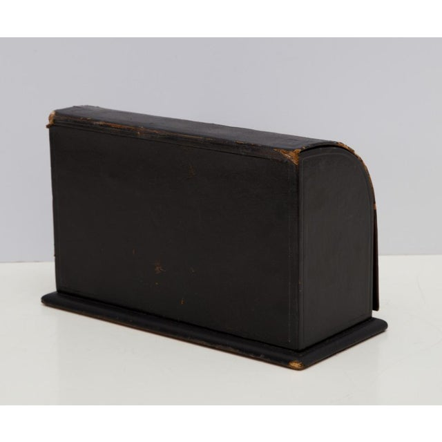 Antique Leather Desk Stationery Letter Organizer For Sale In Richmond - Image 6 of 8