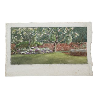 Original 1936 Landscape Watercolor Painting For Sale