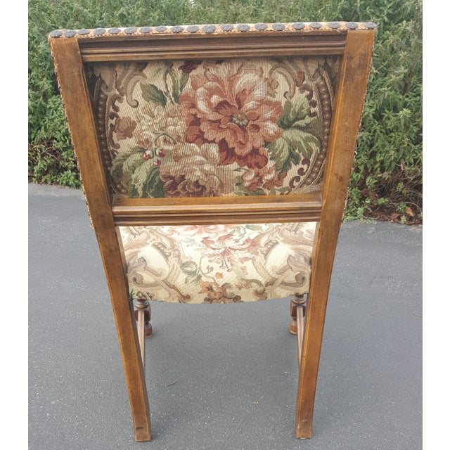 1940s Vintage Upholstered Dining Chairs- Set of 8 For Sale - Image 9 of 13