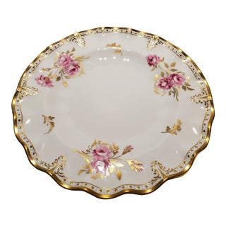 Vintage Royal Crown Derby Pinxton Roses Salad Plate For Sale