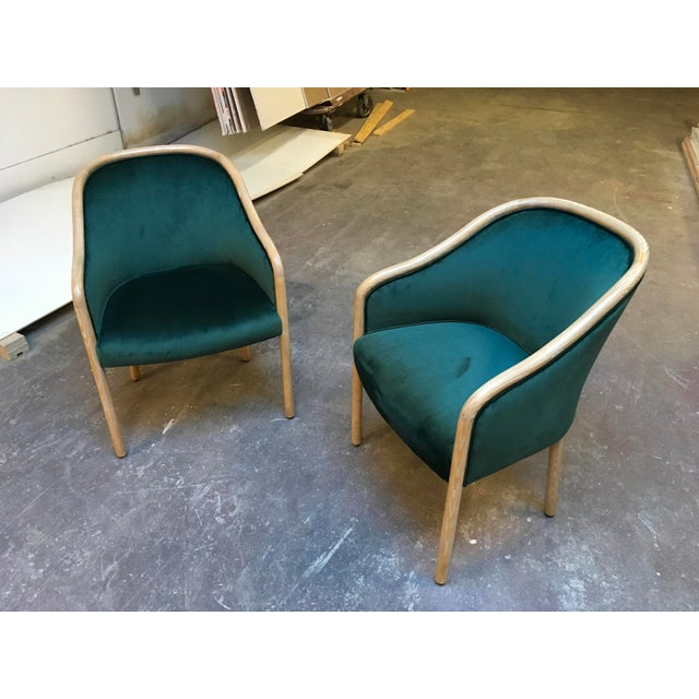 1980s Vintage Ward Bennet Cerused Oak Chairs- A Pair For Sale - Image 10 of 12