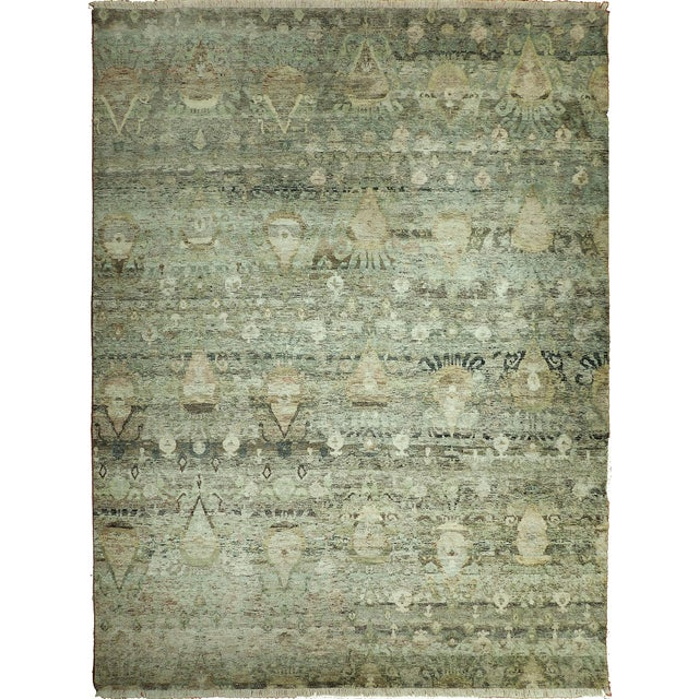 """Transitional Hand-Knotted Luxury Rug - 8'11"""" x 12' - Image 1 of 6"""