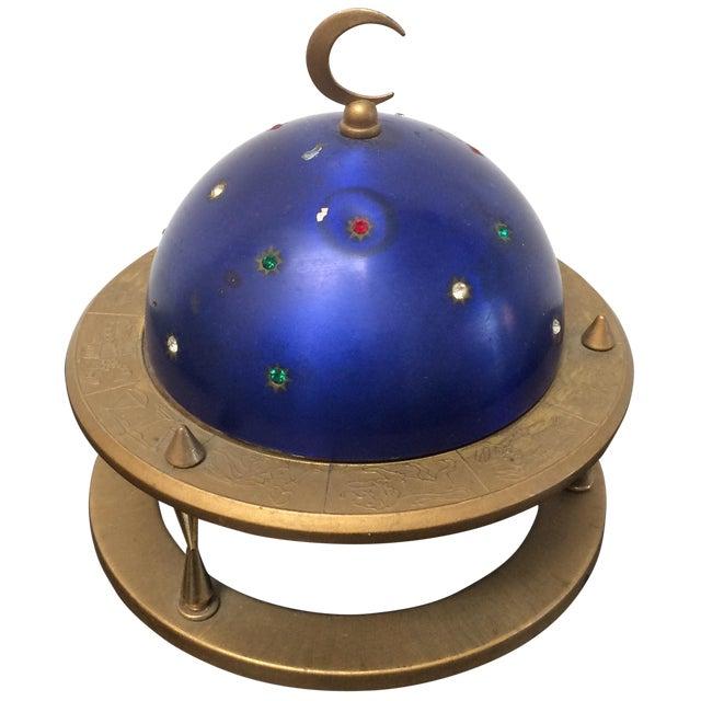 Blue Zodiac Globe Pop-Up Cigarette Holder For Sale