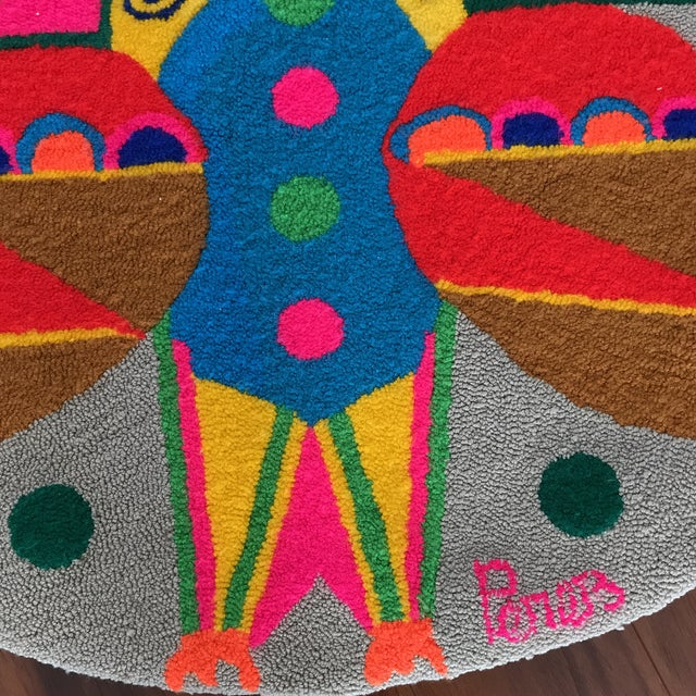 Monteil Style 1970's Mid-Century Pop Art Tapestry For Sale - Image 5 of 6