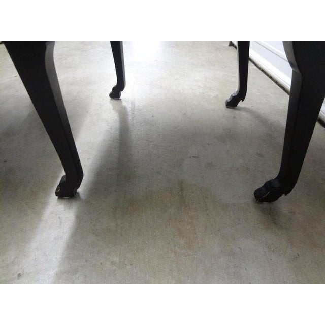 James Mont Inspired Ebonized Chairs With Hoof Feet-A Pair For Sale - Image 11 of 13