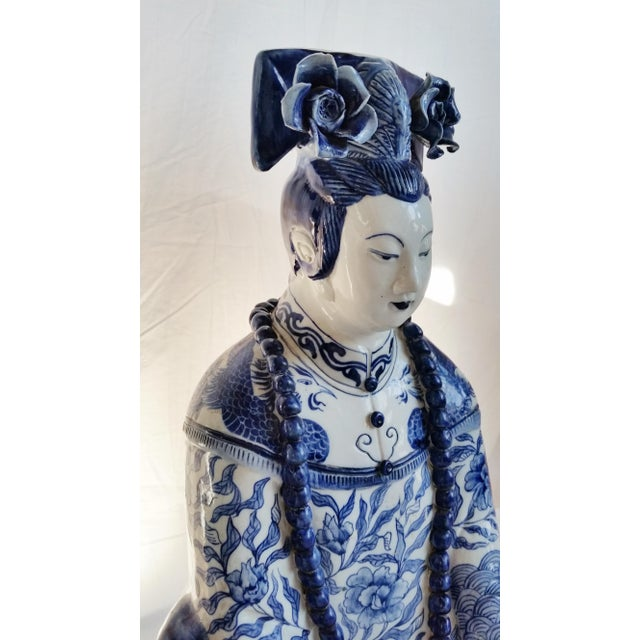Very Large Scale Chinese Blue & White Figures - Image 3 of 9