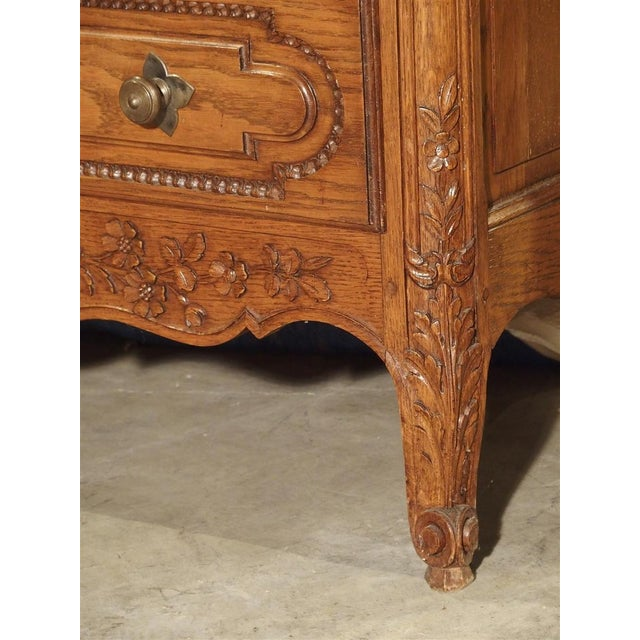 This example of antique furniture has all of the design elements that are typical of pieces from Normandy. However, the...